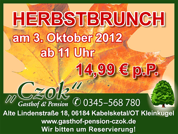 herbstbrunch in kleinkugel